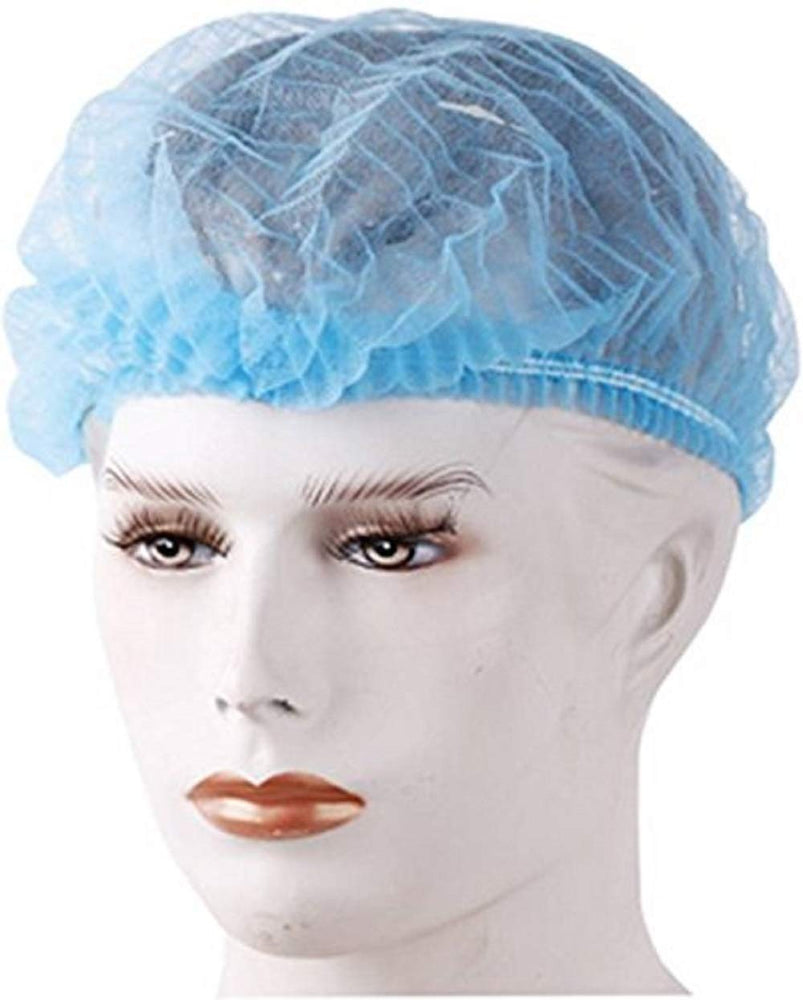 Smart Care Disposable Bouffant Cap Blue 100 Pieces
