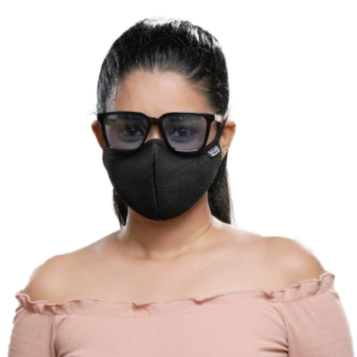 Posi+ve N99 Fog Free Face Mask Black Large