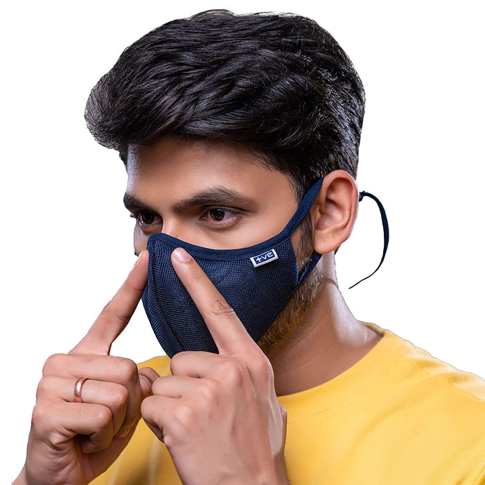 Posi+ve N99 Fog Free Face Mask Blue Large