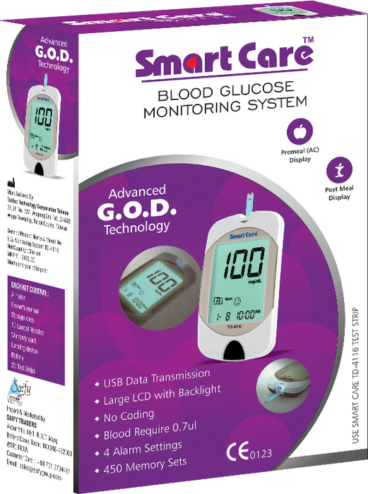 Blood Glucose Monitor with 10 Strips Free