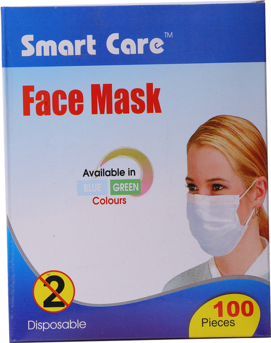 Face Mask Tie 2 Ply Indvidual Packing 100 Pcs
