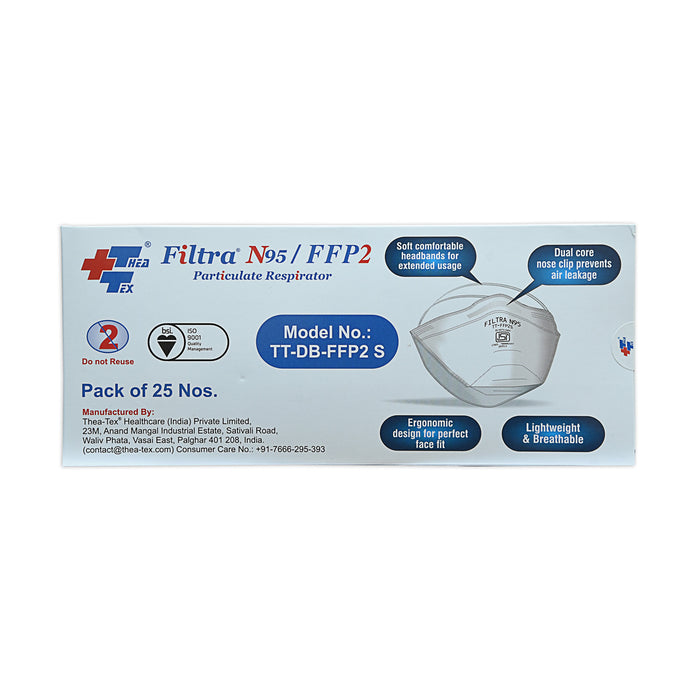 Filtra Face Mask N95 D-Shape (Pack of 25 Pcs)