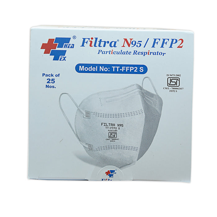 Filtra Face Mask N95 C-Shape (Pack of 25 Pcs)