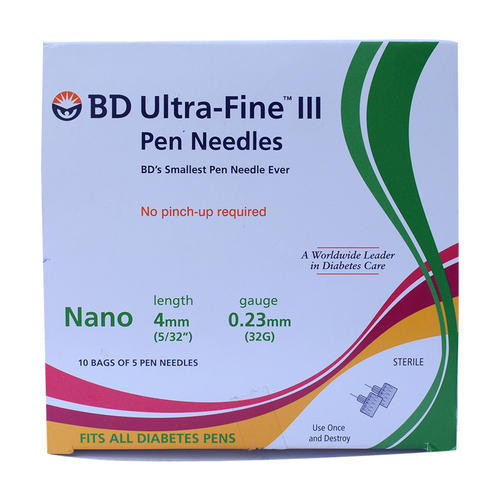 BD Ultra Fine Pen Needles 50 Count 4mm*32G