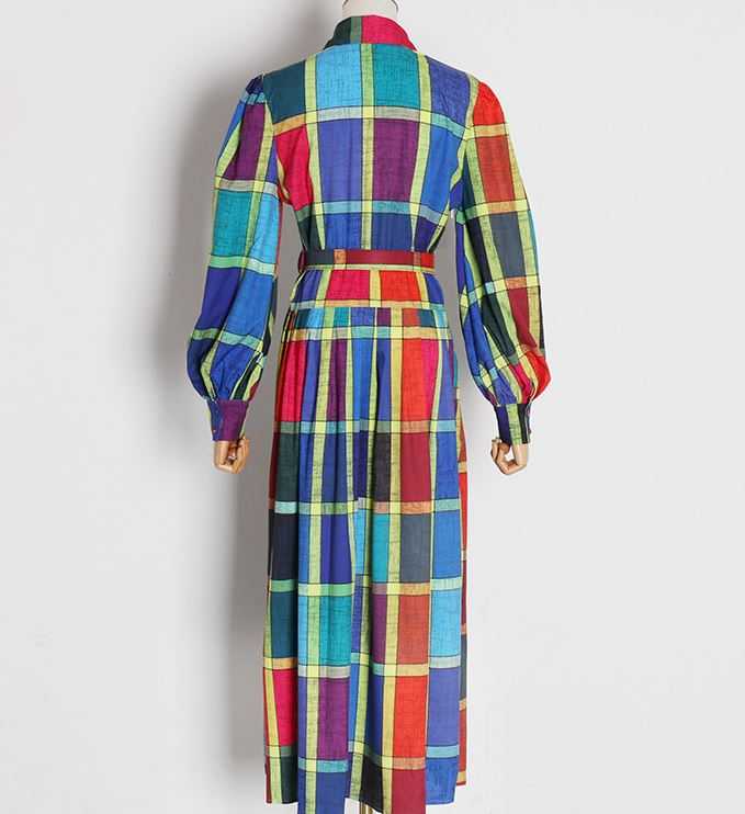 RAINBOW PLAID DRESS NEW!!!