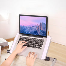 Load image into Gallery viewer, Lappie™ Adjustable Aluminum Laptop Desk Ergonomic Portable Lapdesk