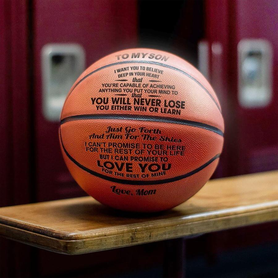 MySon™ You Will Never Lose Basketball Mom to Son Printed Basketball Gift