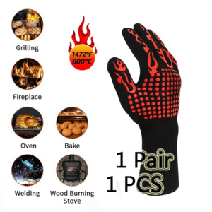 Pitmaster's Gloves™ Extreme Heat Resistant BBQ Gloves 300-500 Centigrade Extreme Heat Resistant Gloves