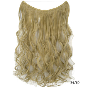 "HaloExtend™ Invisible Halo Hair Extensions 24"" Secret Fish Line Hairpieces Synthetic"