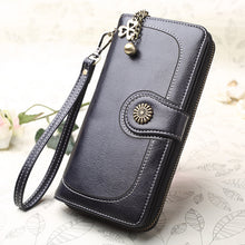 Load image into Gallery viewer, LuxWallet™ Anti-RFID Luxury Women Leather Wallet  Luxury Money Clip Travel Zipper Hasp Leather