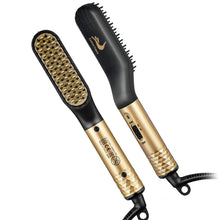 Load image into Gallery viewer, Combie™ Beard Straightening Comb Heated Hot Electric Iron Pro Brush For Men