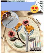 Load image into Gallery viewer, EmbroiNeedle™ Easy Punch Needle Embroidery Set Magic Embroidery Pen DIY Crafts Magic Embroidery