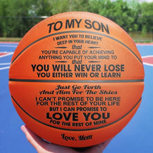 Load image into Gallery viewer, MySon™ You Will Never Lose Basketball Mom to Son Printed Basketball Gift