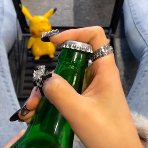 RingOpener™ Bottle Opener Decorating Ring Bottle Creative 1Pcs Stainless Steel Finger Ring Corkscrew