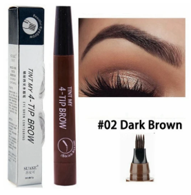 PowerBrow™ Microblading Waterproof Eyebrow Pen 4 Fork Tips Liquid Eyebrow Tattoo Pen