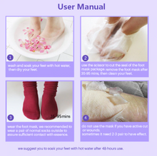 Load image into Gallery viewer, TenderFeet™ Exfoliating Foot Mask Pedicure Socks Exfoliation for Feet Mask Lavander