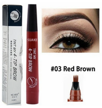 Load image into Gallery viewer, PowerBrow™ Microblading Waterproof Eyebrow Pen 4 Fork Tips Liquid Eyebrow Tattoo Pen