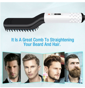 Combie™ Beard Straightening Comb Heated Hot Electric Iron Pro Brush For Men