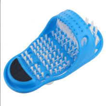 Load image into Gallery viewer, FooShaw™ Easy-Use Shower Foot Scrubber Slippers Bath Shoes Brush Pumice Stone