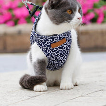Load image into Gallery viewer, MeowVest™ Cat Vest Harness and Leash Set to Outdoor Walking Floral Pattern