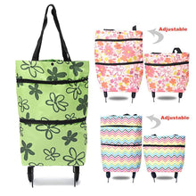 Load image into Gallery viewer, BagCart™ 2 In 1 Portable Foldable Shopping Cart Multifunction Telescopic Storage Bag with Wheel