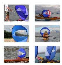 Load image into Gallery viewer, KayakSail™ Foldable Kayak Boat Wind Sail Paddle Board Sailing Canoe Stroke Rowing Boats