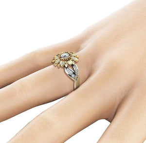 SunfloweRing™ Premium Version - Exquisite Crystal Sunflower Ring Fashion Jewelry