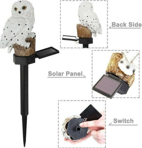 LightGuard™ Solar Owl LED Light - Waterproof Garden Lawn Landscape Owl Ornament Lamp