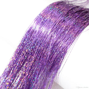 TwinkleHair™ Sparkle Hair Tinsel Extension Clips Hair Accessories Glitter Hair Party Holographic