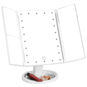 VanityMirror™ Folding Make-up Mirror with LED Lights Magnifying Lighted Up Cosmetic Mirror