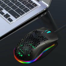 Load image into Gallery viewer, GamerClicks™  RGB Light Wired Gaming Mouse 6400 DPI PC 6 Buttons Laptop Mouse