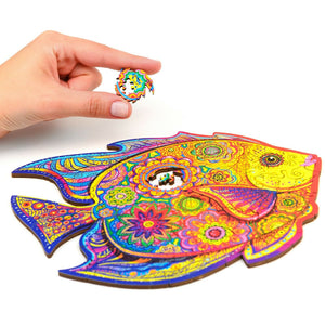 ShiningFish™ Fish Wooden Jigsaw Puzzle Best Gift for Adults and Kids