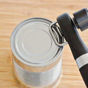 Twistopen™ Safe Stainless Steel Cutting Can Opener Smooth Edge Side Manual Tin Can Opener Kitchen Tool