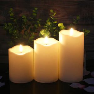 CandleLite™ 3Pcs LED Simulation Candles Light Flameless Moving Wick With Timer & Remote Control