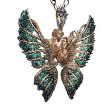 AngelButterfly™ Crystal Angel Wings Butterfly Pendant Necklace Faith and Love Jewelry