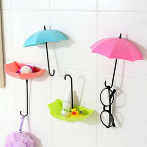 UmbrellaHook™ Colorful Umbrella Wall Hooks Clothes Hat Key Holder Organizer Home Decor