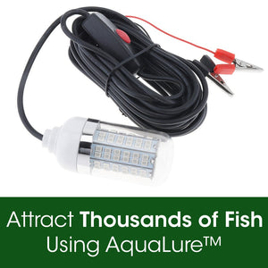 AquaLure™ Fishing Light For Fishing At Night 12V LED Waterproof Ip68 Lures Fish Finder