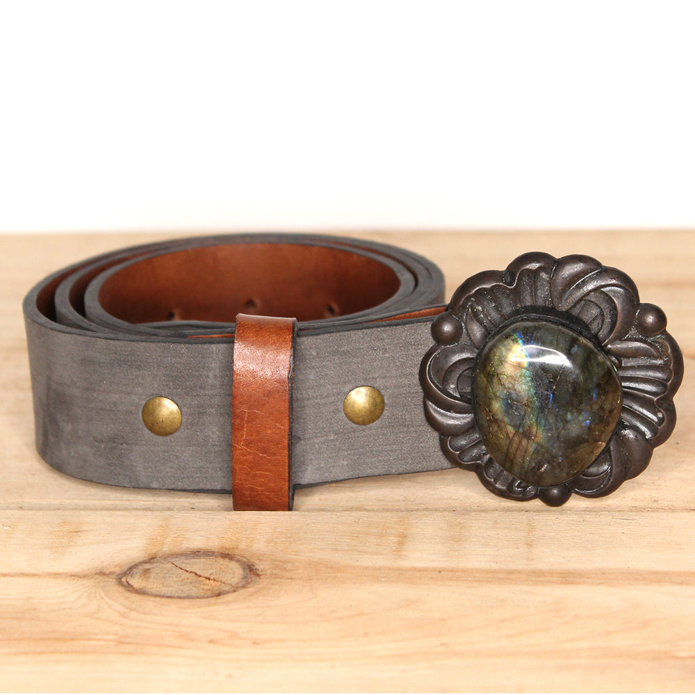 Labradorite Belt Buckle