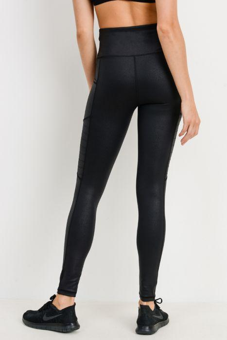 Foil Moto Pocket Leggings