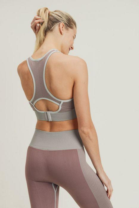 Chevron Track Racerback Athletic Bra