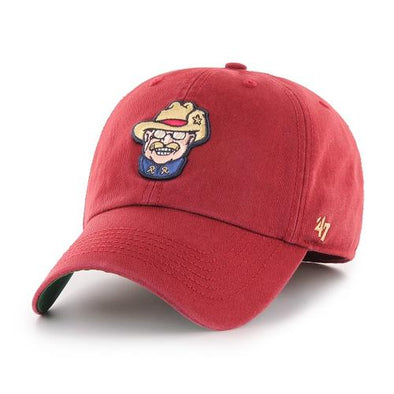 47 Brand RoughRiders Smiling Teddy Franchise Hat Scorched Red