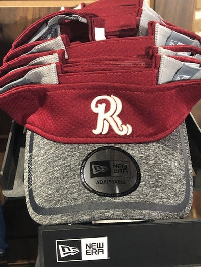 New Era 2-Tone Grey/Scorched Red RR Visor
