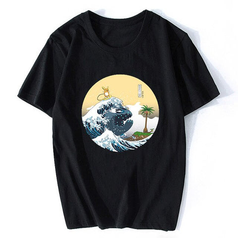 T-Shirt Pokemon Vague Japonaise