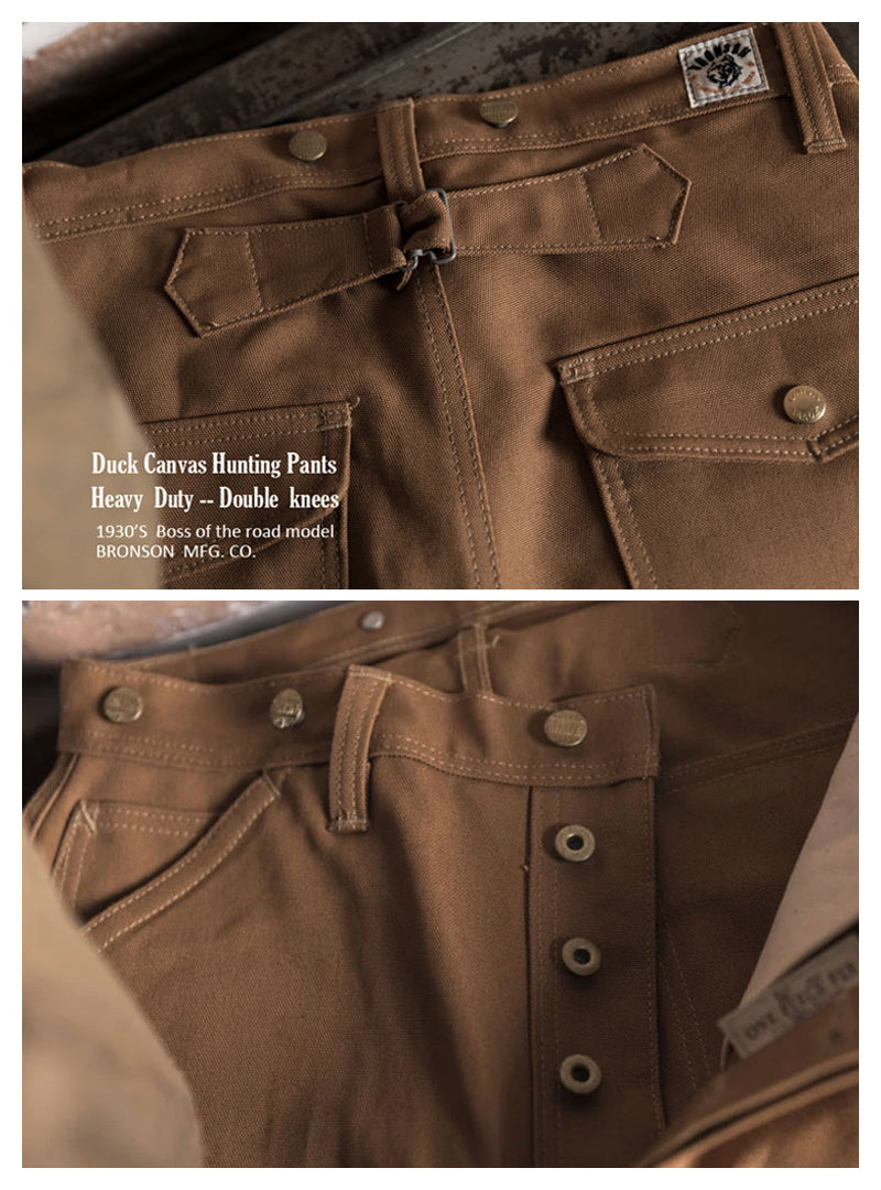 1930s Boss of The Road Heavy Duty Double Knees Duck Canvas Hunting Pants