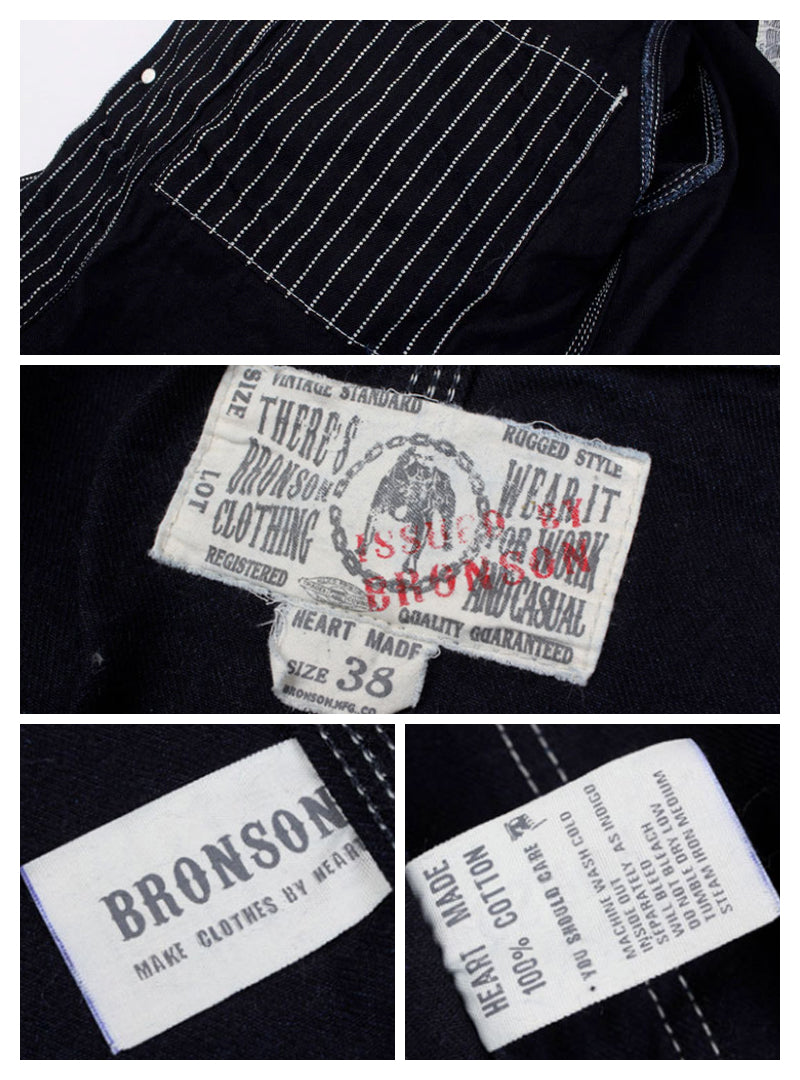 1900s Wabash Indigo Stripe Railroader Work Jacket