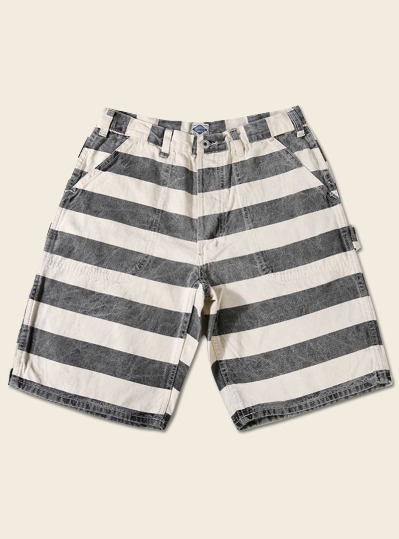 Prisoner's Wide Striped Canvas Shorts
