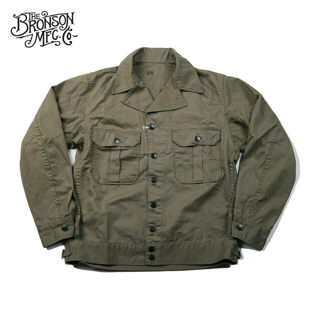 Bronson Reproduce World War II US.Army M-40 HBT Herringbone Jacket