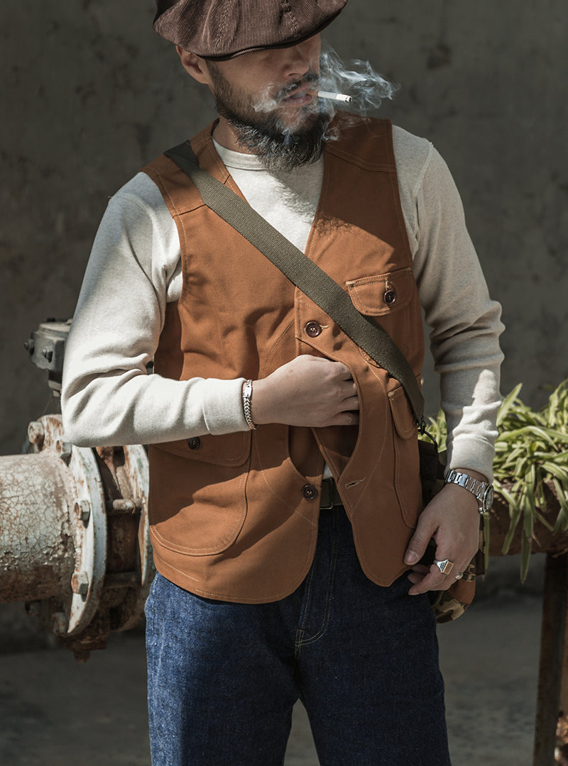 Game Pocket Heavy Canvas Outdoor Vest