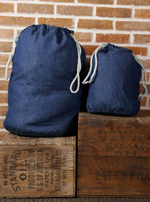 1940s USN Barracks Denim Duffle Bag