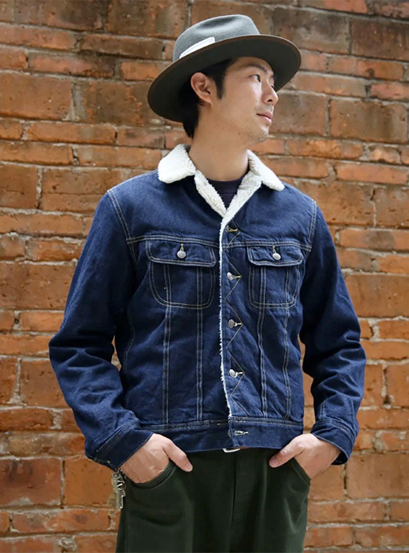 Storm Rider Style Sherpa Lined Denim Jacket